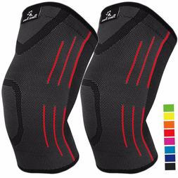 1 pair knee compression sleeves for arthritis