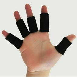 10Pcs Finger Splint Brace Thumb Support Wrap Protector Sport