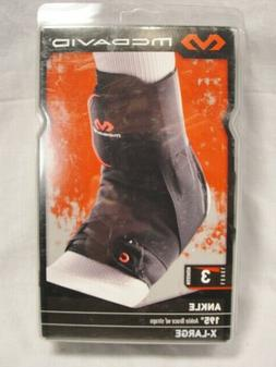 MCDAVID 195 Ankle Brace w Straps Level 3 max X-Large Black N