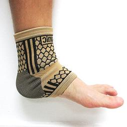 2 Ankle Brace Support Elastic Compression Wrap Sleeve Sports