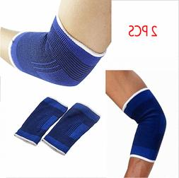 2 ELBOW Sleeve Brace Wrap Support Tennis Elastic Compression