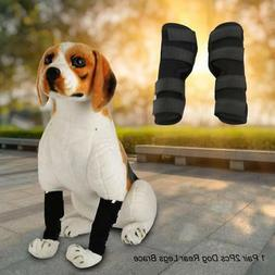 2* Knee Brace For Dogs Hock Protector ACL Therapeutic Dog Re