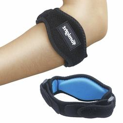 Tomight  Tennis Elbow Brace with Compression Pad for Both Me