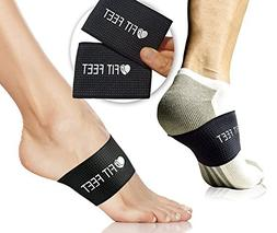 Fit Feet Compression Arch Support - 2 Plantar Fasciitis Brac