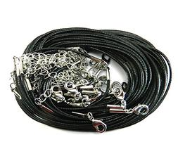 Rockin Beads Brand 20 Imitation Leather Cord Necklaces Black