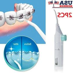 2PCS Portable Dental Water Jet Floss Teeth Cleaner Tooth Pic
