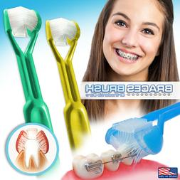 2PK :: BRACES BRUSH 3-Sided Toothbrush :: Clinically Proven