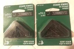 2x Everbilt 1-1/2 Inch Corner Braces 4 Pack /New in Package