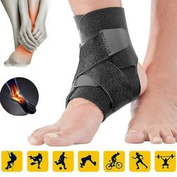 2x Adjustable Ankle Support Braces Compression Wrap Protecto