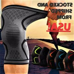 2x Compression Knee Sleeve Brace/Running/Arthritis/Joint Sup