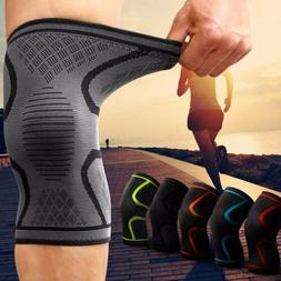 2X Knee Sleeve Compression Brace Support For Sport Joint Pai