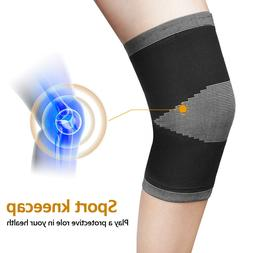 2x Knee Sleeve Compression Brace Support For Sport Joint Art