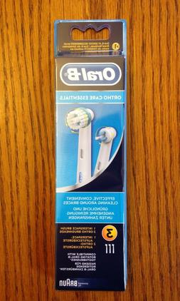 3 ORAL-B Braces Care Replacement Refills Tooth Brush Heads O