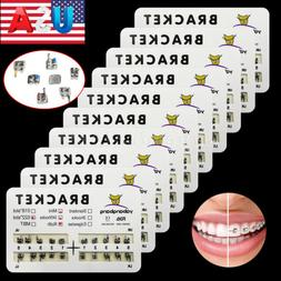 10 Packs USA Dental Orthodontic Metal Braces Bracket Mini Ro
