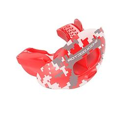 Shock Doctor 3300 Max Air Flow Lipguard Trans Red CAMO Adult