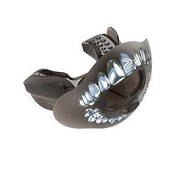 Shock Doctor 3300 Max Airflow Lip & Mouth Guard, Black/Silve