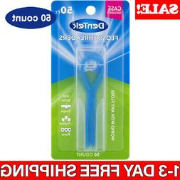 50 Ct Dental Floss Threaders Simple Loop With Case For Brace