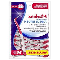 6-Pack of Plackers Right Angle Interdental Brushes 16pcs