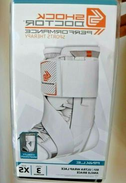 Shock Doctor 851 Ultra Wrap Laced Ankle Brace Size XS