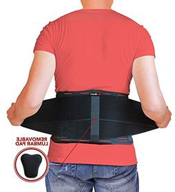 AidBrace Back Brace Support Belt - Back Pain Relief for Hern