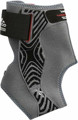 adidas Adizero Right Ankle Brace, Grey/Black, Large