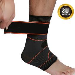 Adjustable Ankle Brace Support Compression Sleeve Pain Relie