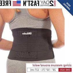 Mueller Adjustable Back Brace, Black One Size Lightweight wi