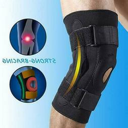 Adjustable Hinged Knee Brace Support Stabilizer Patella Comp