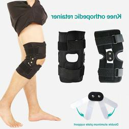 2X Hinged Knee Brace Support Sleeve Arthritis Pain Relief Pa