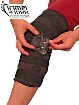 OmniBrace-Adjustable WrapAround Hinged Knee Support Brace Si