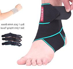 Ankle Support,Adjustable Ankle Brace Breathable Nylon Materi
