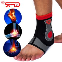 Ankle Support Brace Compression Sleeve Foot Pain Relief MMA