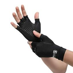 Copper Compression Arthritis Gloves. GUARANTEED Highest Copp
