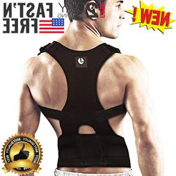 Back Brace Support Men Posture Corrector Lumbar & Neck Pain