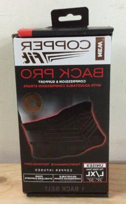 Copper Fit Pro Back Support, Black with Copper Trim, Small/M