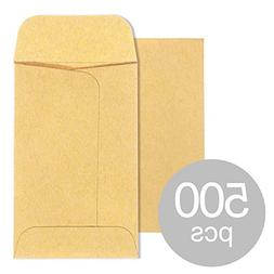 Acko #1 Coin and Small Parts Envelopes 2.25x 3.5 Brown Kraft
