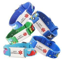 Cartoon Type 1 Diabetes Medical alert id Bracelet for boy &