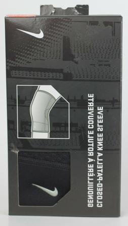 Nike Closed-Patella Knee Sleeve Compression Support Brace Bl