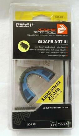 Shock Doctor 4700 Ultra Braces Mouth Guard, BLACK, Adult