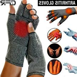 Copper Compression Gloves Carpal Tunnel Arthritis Pain Relie