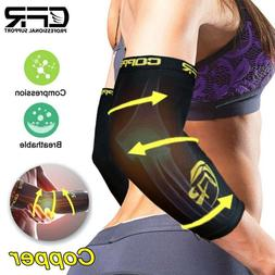 Copper Elbow Brace Compression Support Sleeve Arthritis Tend