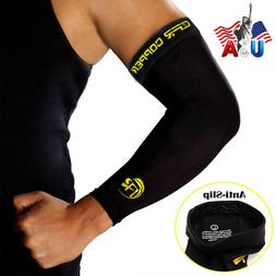 Copper Elbow Support Sleeve Arm Brace Arthritis Fitness Comp