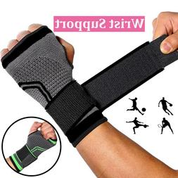 Copper Wrist Hand Brace Support Strap Carpal Tunnel Splint S