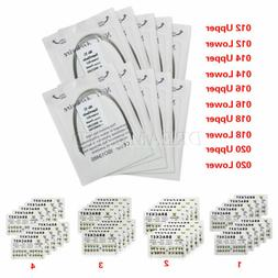 10PKS Dental Arch Wire Niti Round U/L / Metal Brackets Brace