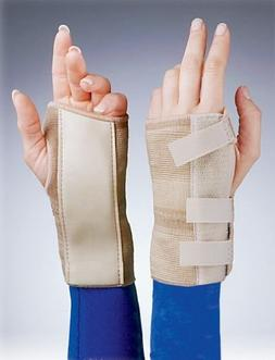 "Florida Orthopedics 6"" Elastic Cock-up Wrist Brace, Beige, R"