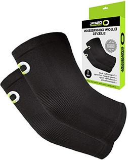 Elbow Brace Compression Sleeve  - Instant Support Elbow Slee