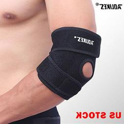 Elbow Brace Support Arm Band Pads Wraparound Compression Ten