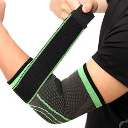 Elbow Support Brace Wraps Strap for Tennis Gym Golfers Weigh