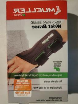 fitted wrist brace green line