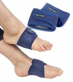 Foot Pain Relief Arch Support Brace for Women & Men Set of 2